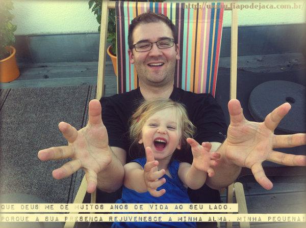 Legenda para foto com pai e filha