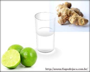 Água com gengibre e limão emagrece rápido