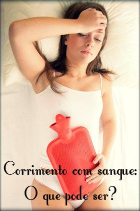 Corrimento com sangue fora do período menstrual: causas e tratamento.