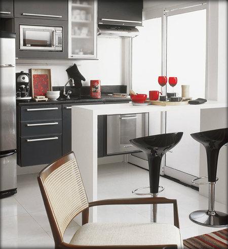 Decora o de cozinha americana de apartamento fiapo de jaca for Cocina y lavanderia juntas