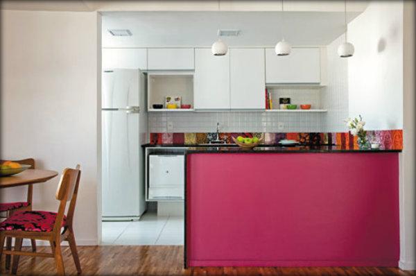 Decoração de cozinha americana de apartamento