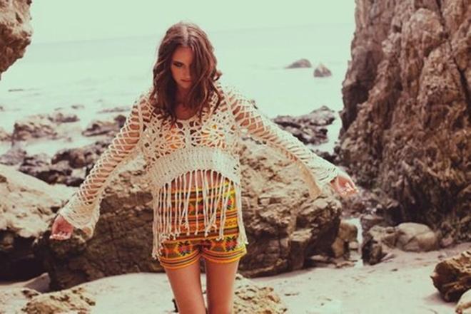 Peças em crochê para usar na praia