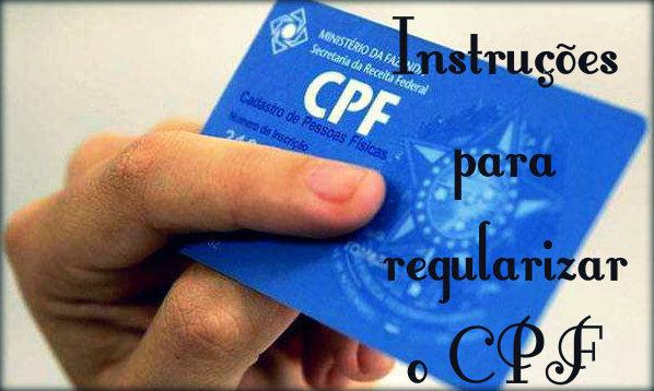 Instruções para regularizar o CPF