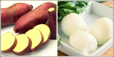 Dieta clara de ovo e batata doce