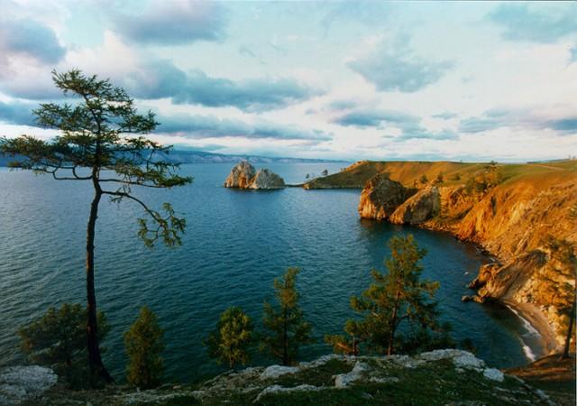 Foto do lago mais profundo do mundo.