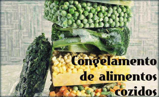 Passo a passo para congelamento de verduras e legumes cozidos.
