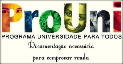 Documentação necessária para comprovar a renda de um autônomo no Prouni.
