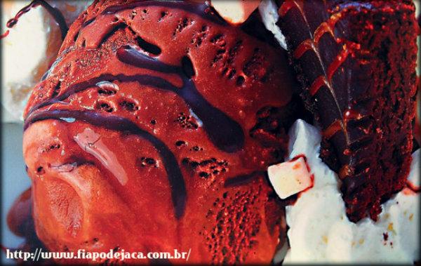 Receita de sorvete de chocolate caseiro
