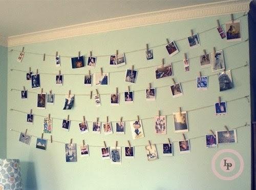 Boas ideias para exposição de fotos em casa - decoração