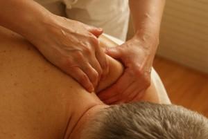 Massagem na coluna