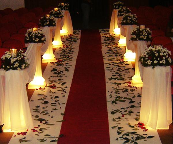 Decoração com meia luz deixa um clima maravilhoso de romance!