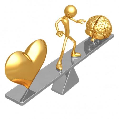 Forma de equilíbrio encontrada entre a razão e a emoção.